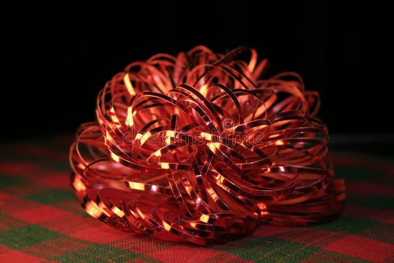 Download Ukłon Szkockiej Kraty Czerwony świecąca Zdjęcie Stock - Obraz: 46166