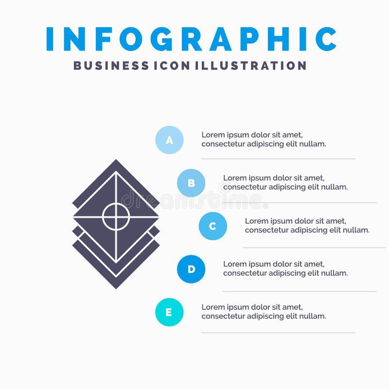 Uk?ada, projektuje, warstwy, sterta, warstwy Infographics szablon dla strony internetowej i prezentacja, glif Szara ikona z B??ki ilustracji