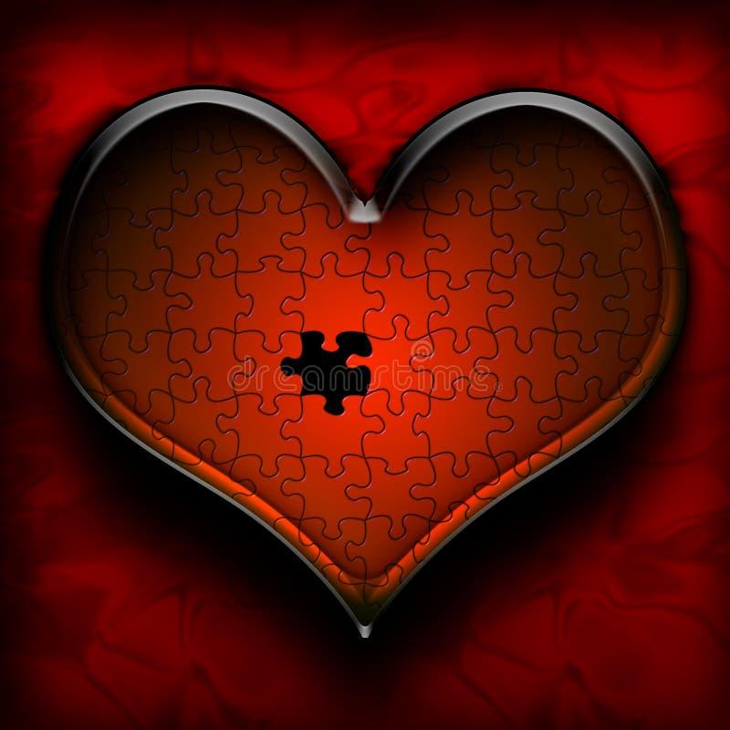 Download Układanki serca ilustracji. Obraz złożonej z związek, heart - 32526