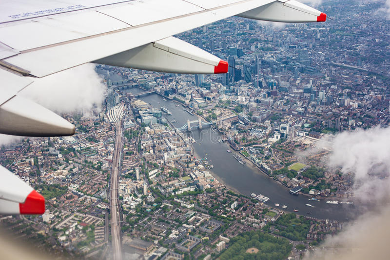 UK from the Airplane Window stock images