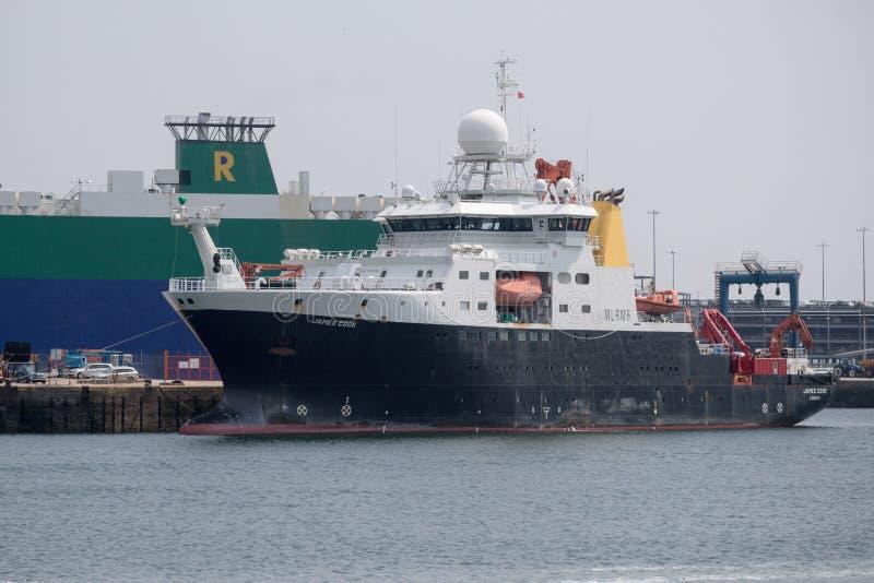 UK Badawczy statek RSS James Cook zdjęcia royalty free