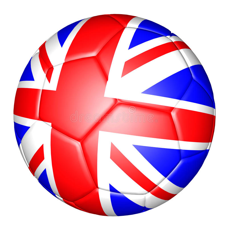 uk balowa piłka nożna royalty ilustracja