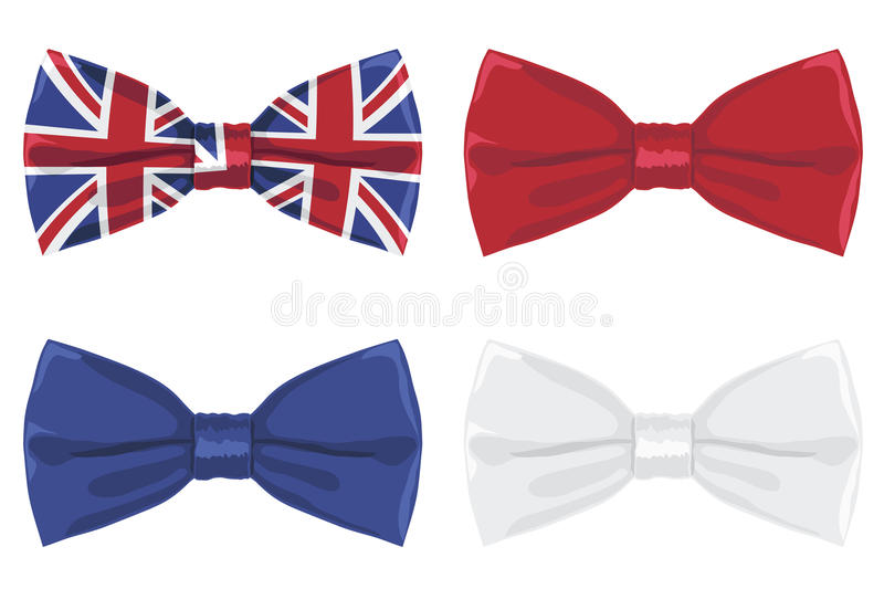 Download Uk bow tie stock vector. Image of british, union, ribbon - 24695483