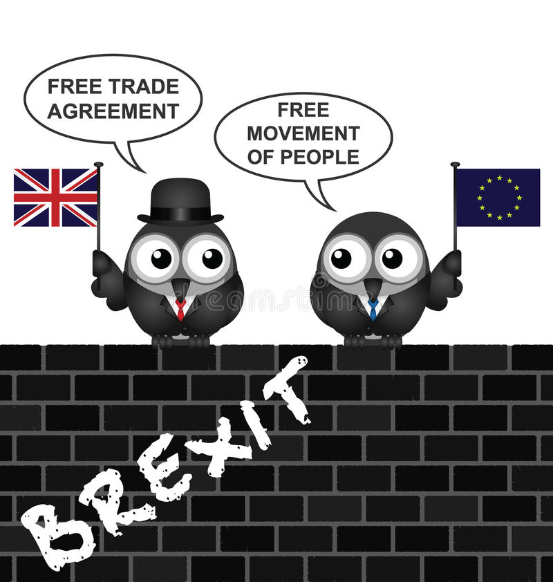 Uk Brexit Trade Agreement Stock Vector Illustration Of Europe