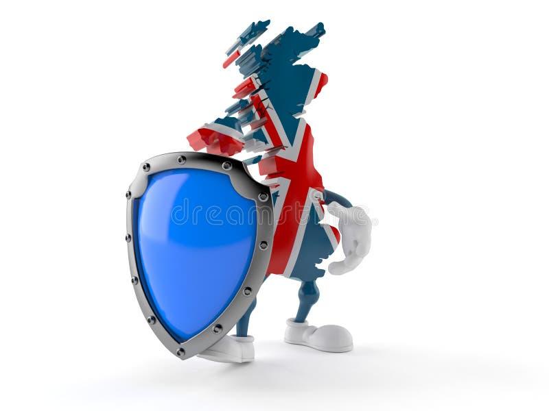 UK charakter z ochronną osłoną ilustracji