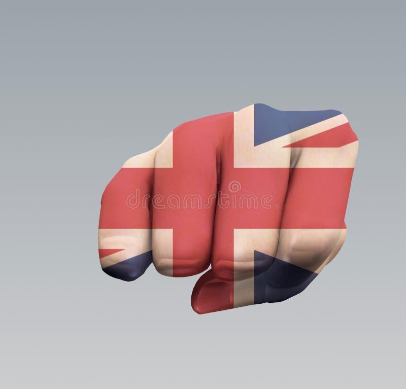 UK Chorągwiany pięść poncz ilustracji