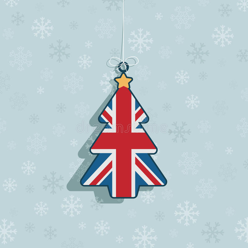 Uk christmas decoration stock illustration