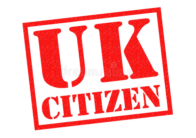 UK CITIZEN. Red Rubber Stamp over a white background vector illustration