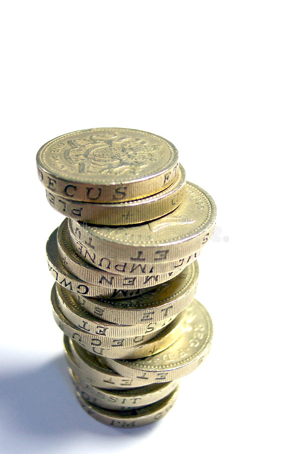 Uk Coins. Money (£1 coins) . This is a pile of British one pound coins