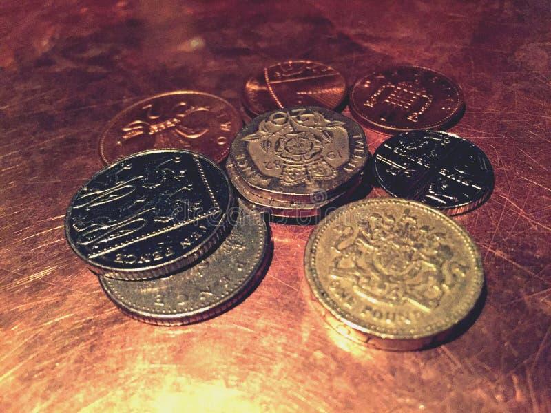 UK coins. royalty free stock photos