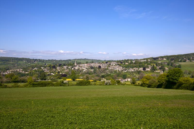 UK, Cotswolds, Gloucestershire, Painswick countryside view stock images