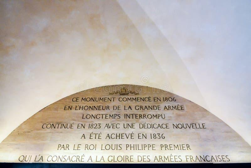 ?uk De Triomphe przy noc?, fotografia wizerunek Pi?kny panoramiczny widok Paryski Wielkomiejski miasto obrazy stock