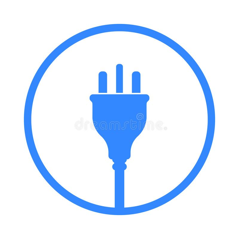 UK Electric Plug icon, symbol. United Kingdom, Great Britain standart royalty free illustration