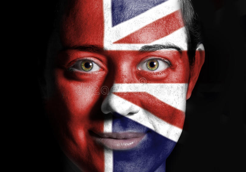 UK face flag stock photography