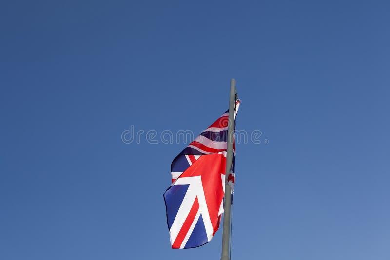 UK flag on a flagpole stock images