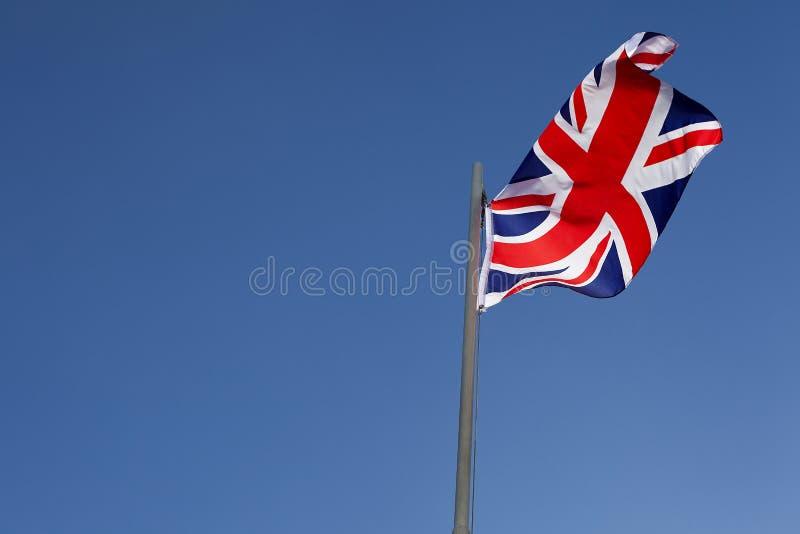 UK flag on a flagpole stock image