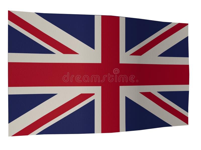 UK Flag Silk. Flag silk united kingdom england great britain stock illustration