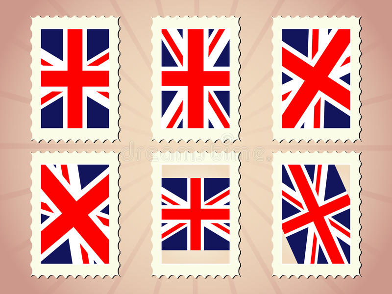 Download UK Flag Stamp stock vector. Image of paper, state, stripes - 12148808