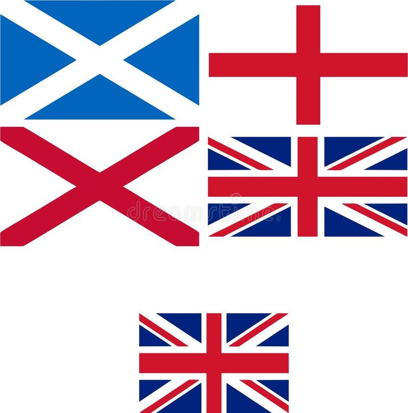 UK flaga ilustracja wektor
