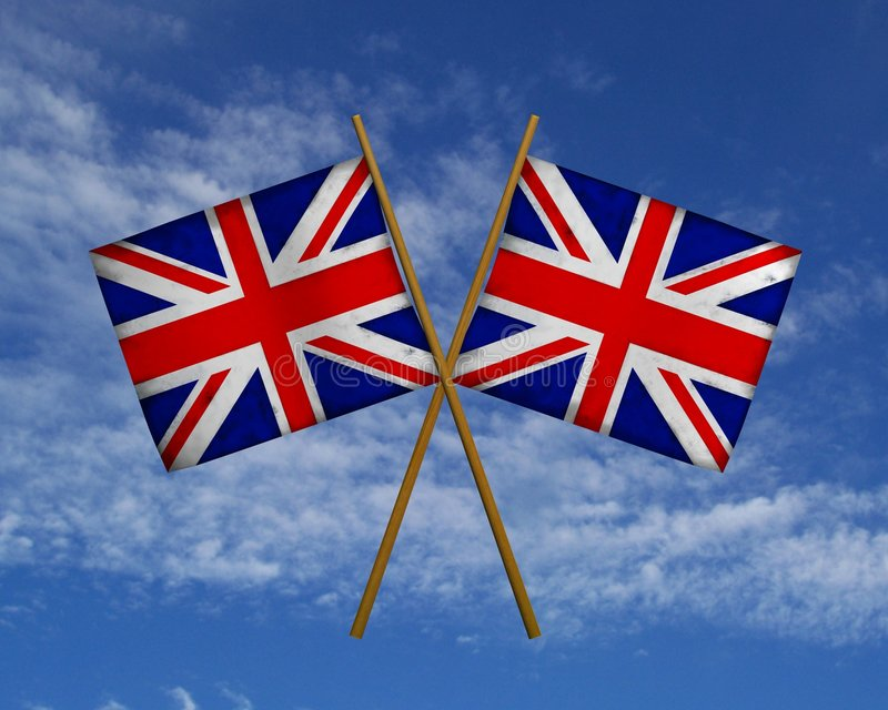 UK Flags Royalty Free Stock Photography