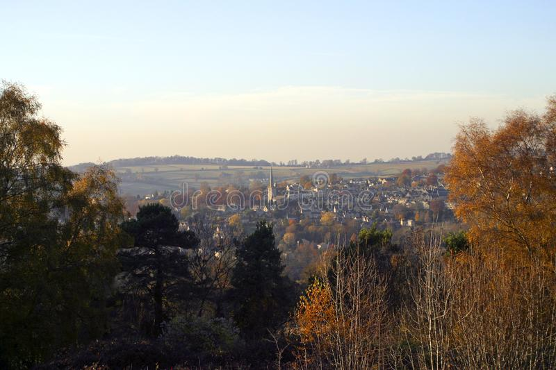 Picturesque Cotswolds - Painswick in Autumn stock photos