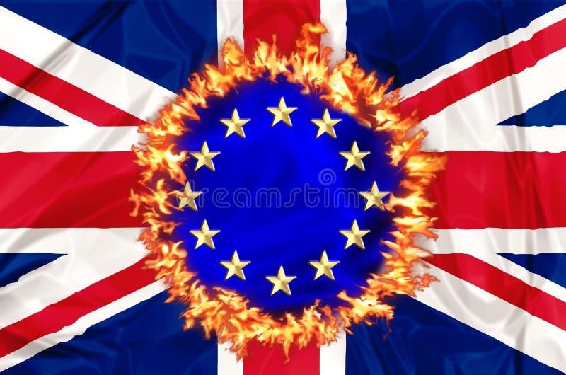 UK gospodarka Brexit royalty ilustracja