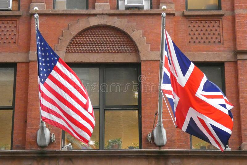 UK i usa flaga fotografia royalty free