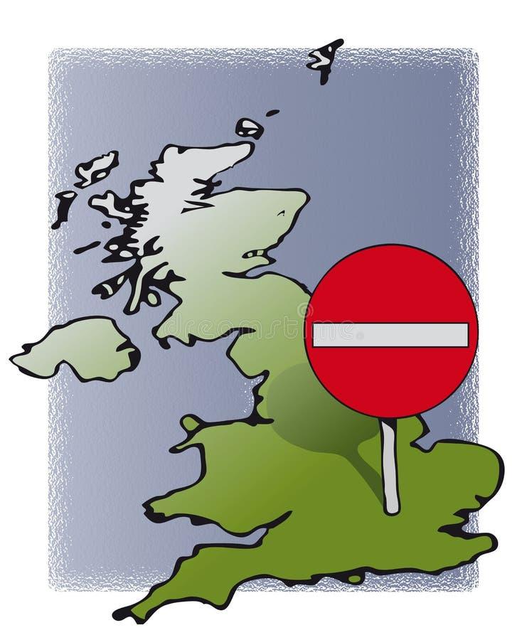 UK inget tillträde vektor illustrationer