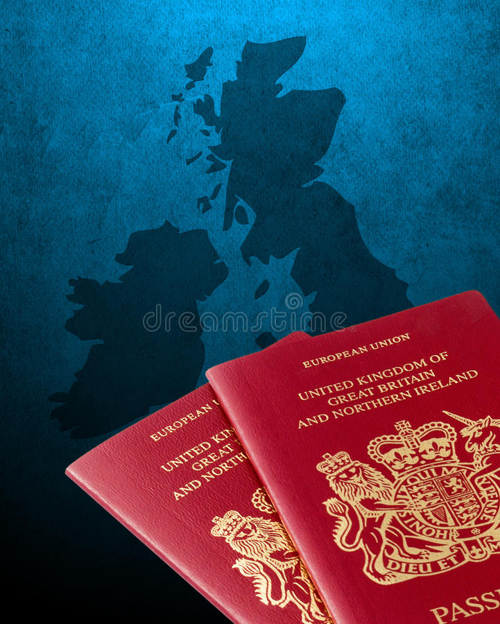 UK and Ireland map royalty free stock image