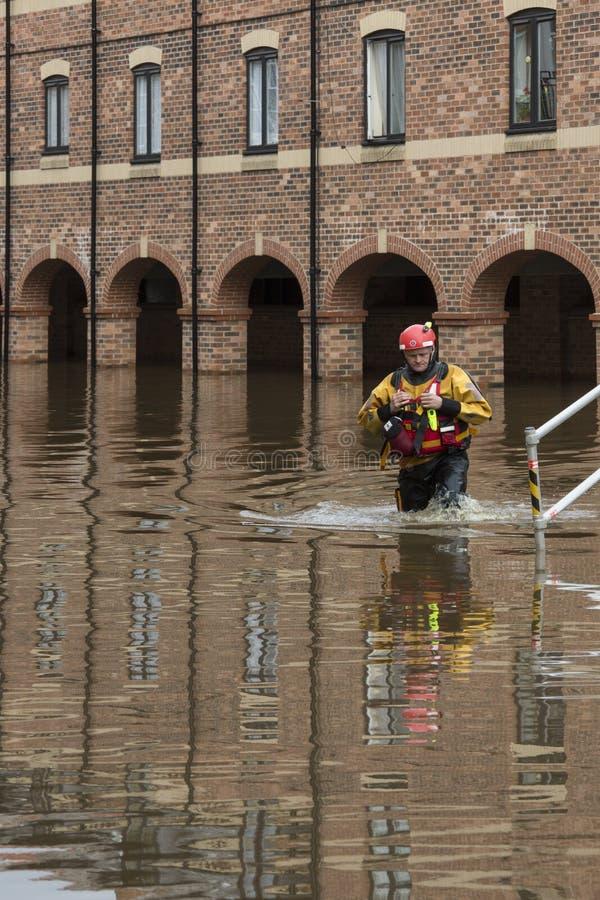 UK Jork Powodzie - Sept.2012 - obrazy royalty free