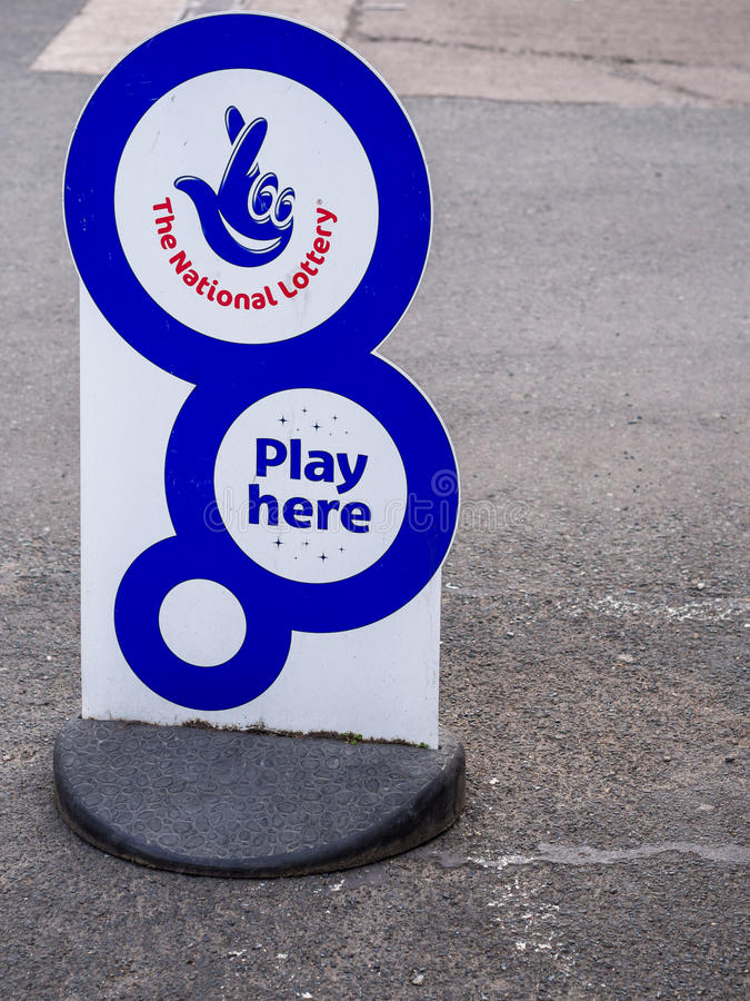 UK Krajowa loteria obrazy royalty free