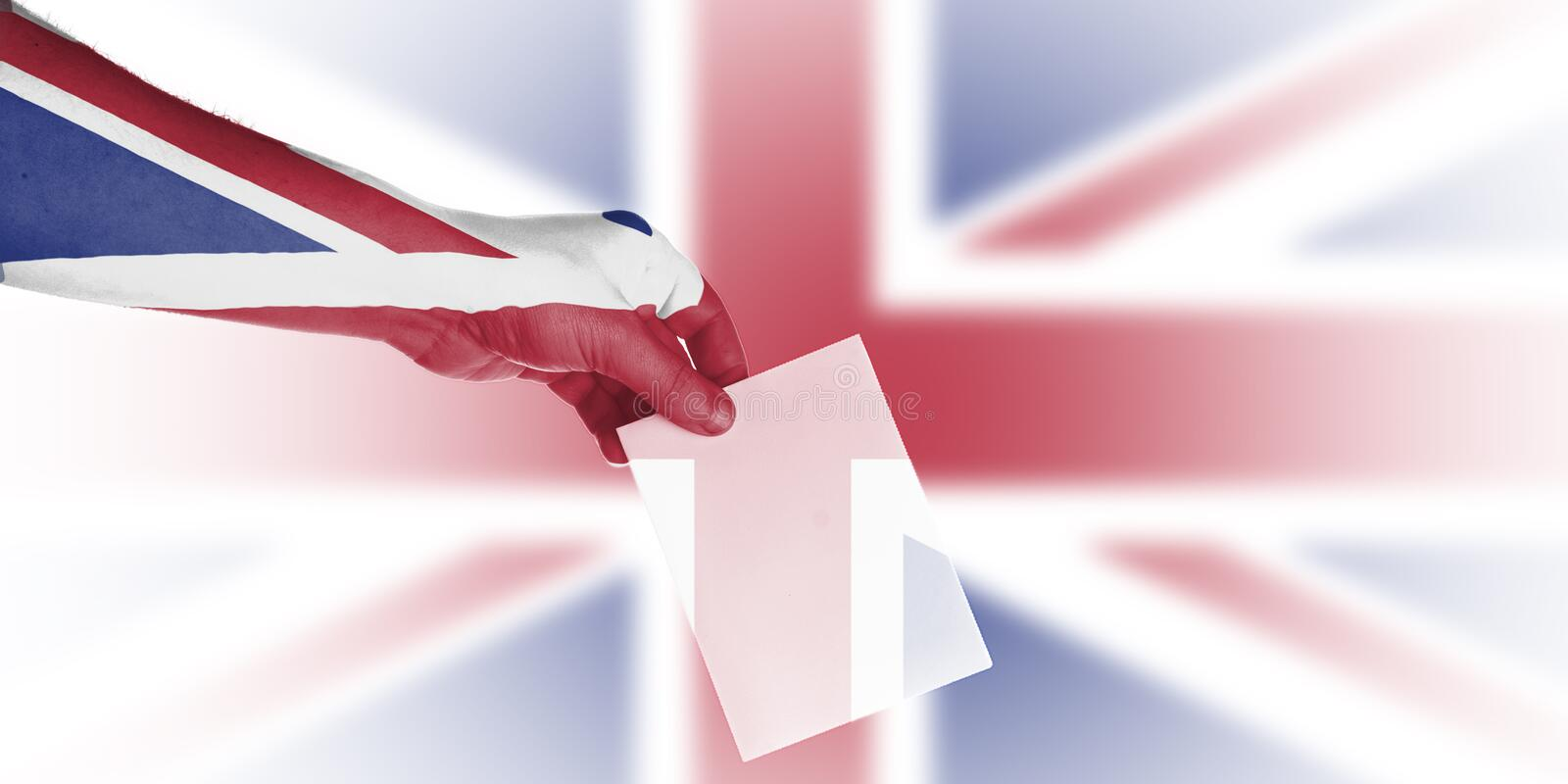 Uk local elections wallpaper royalty free stock image