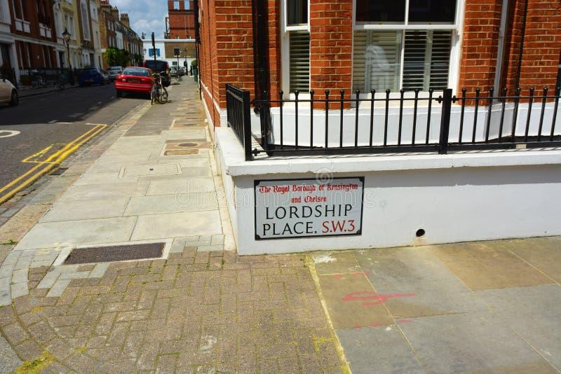 UK Lokalowy kryzys Seniorata miejsce, Real Estate Chelsea, Londyn SW3 UK fotografia stock