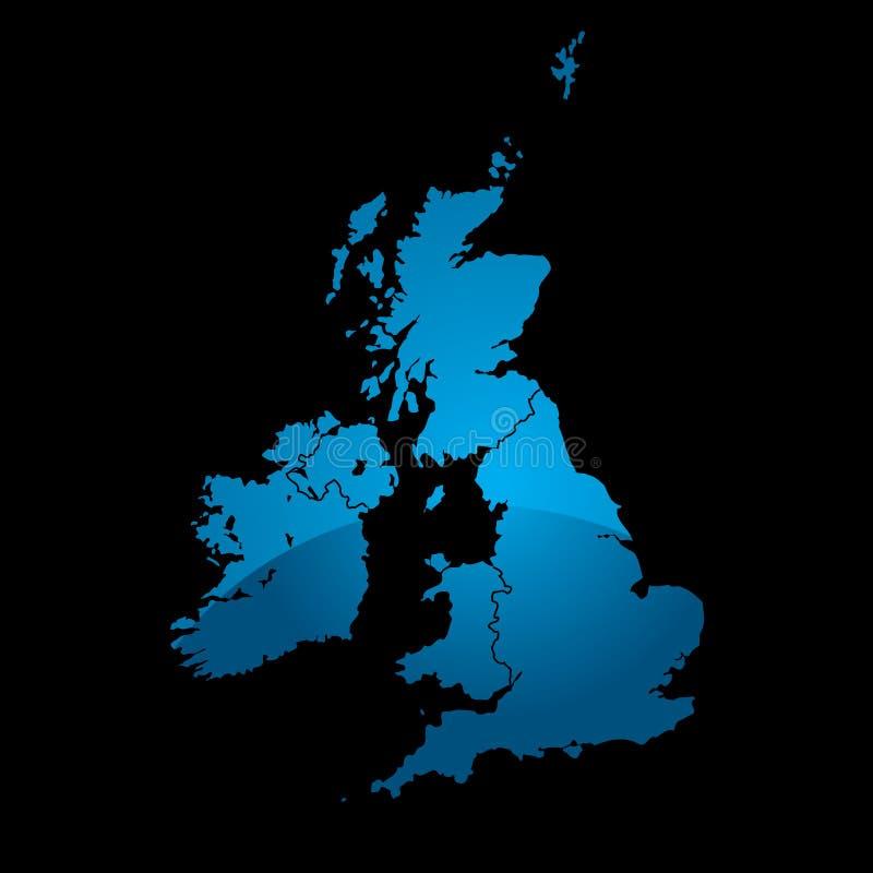 Uk map blue divide