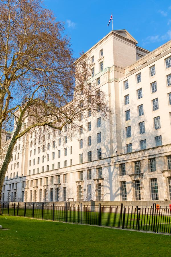 UK Ministry of Defence. Ministry of Defence building in Central London, UK royalty free stock photography
