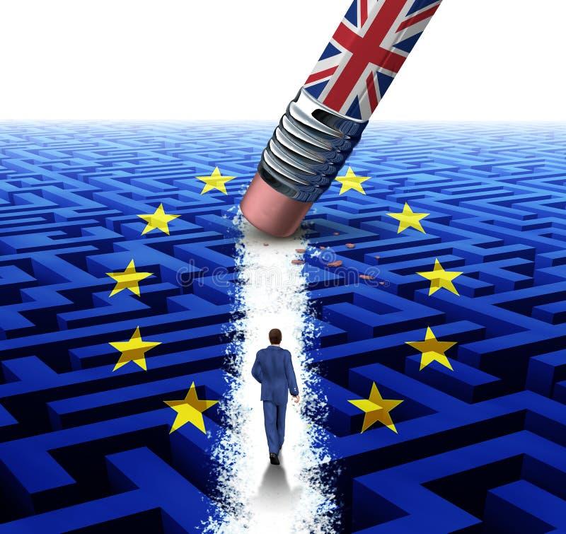 UK och den europeiska unionen royaltyfri illustrationer