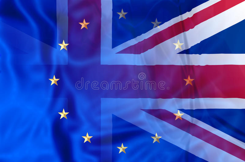 UK och Europa royaltyfri illustrationer