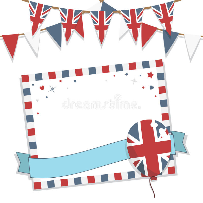 Download Uk party card stock vector. Illustration of invite, ribbon - 24770540