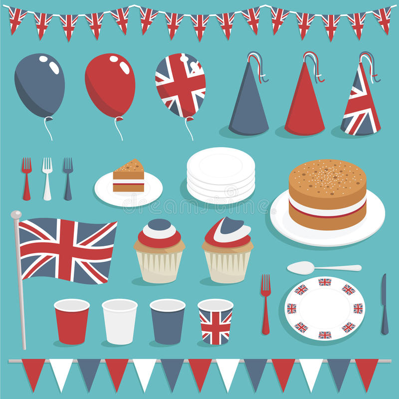 Download Uk party set stock vector. Image of great, ornament, cream - 23810170
