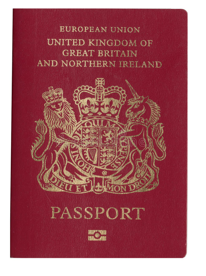 UK Passport. United kingdom, great britain and northern island passport royalty free stock photos