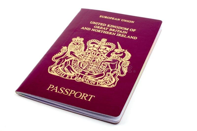 UK Passport. A shot of a UK/British Passport royalty free stock photo