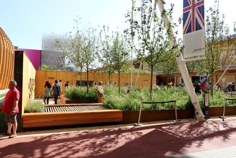 UK-paviljong Milan, milano expo 2015 arkivfoto