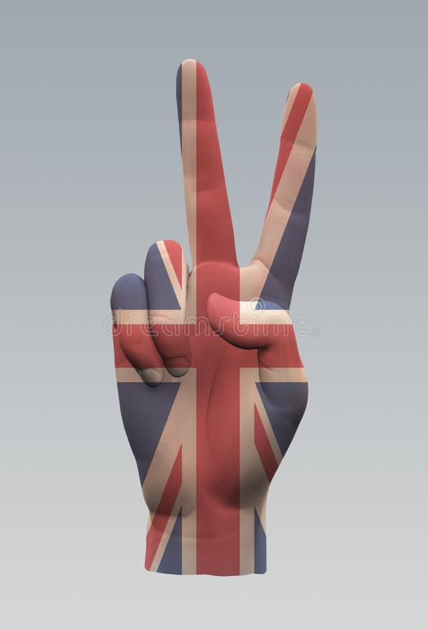 UK pokoju znak royalty ilustracja