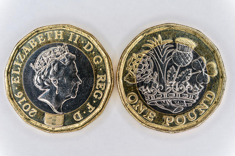 Uk pound coin royalty free stock image