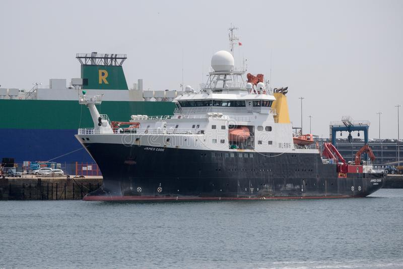 UK Research Ship RSS James Cook royalty free stock photos