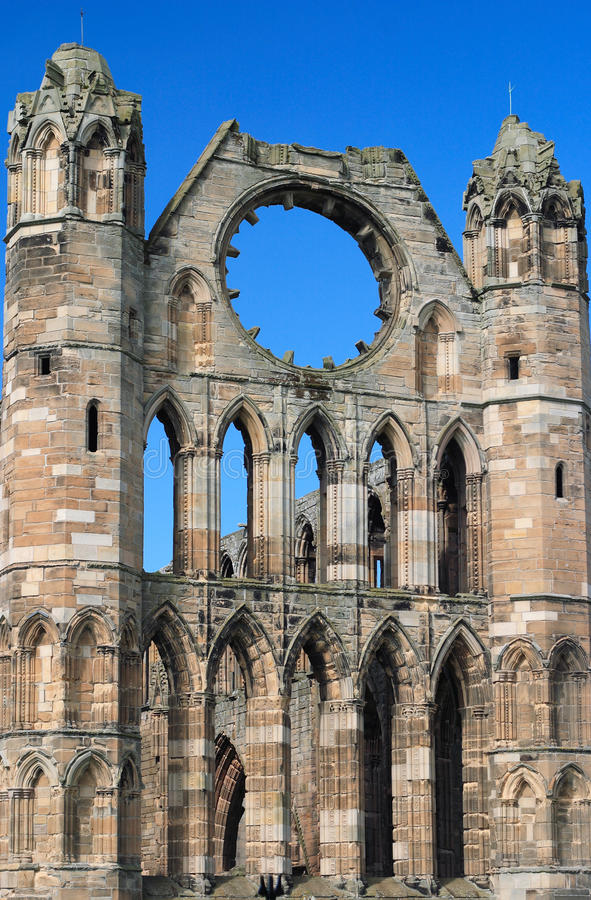 UK Scotland Elgin Ruins of Elgin Cathedral royalty free stock photo