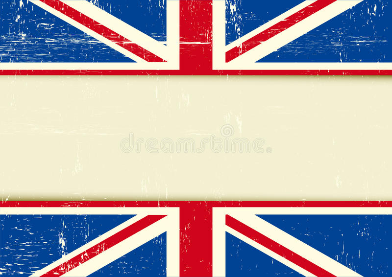 UK Scratched Horizontal Background Stock Vector - Illustration of ...