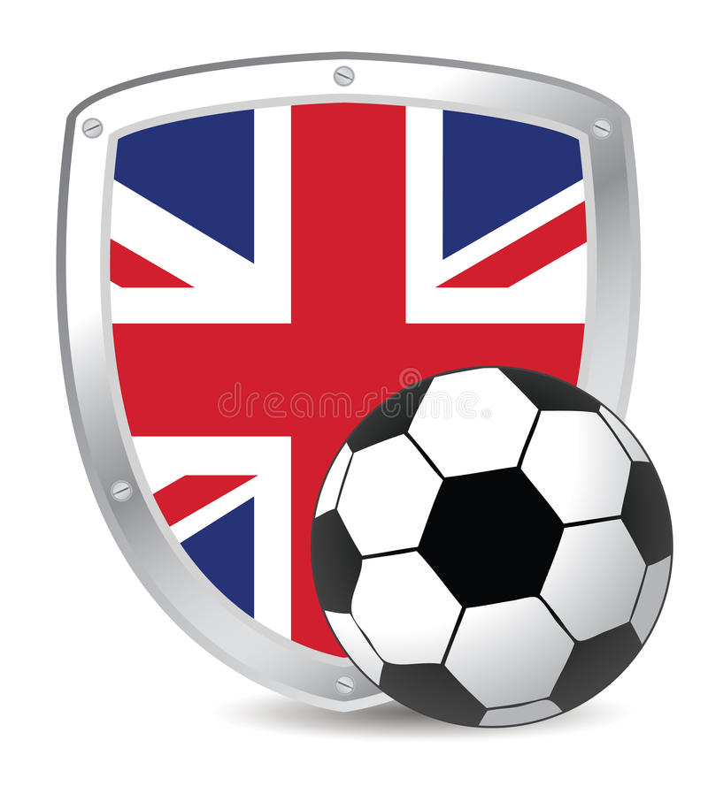 Download Uk shield soccer stock vector. Image of goal, ball, icon - 13933806