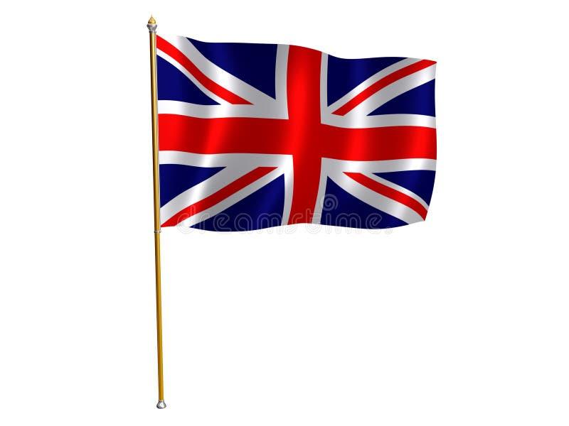 UK silk flag. Silk flag of United Kingdom stock illustration