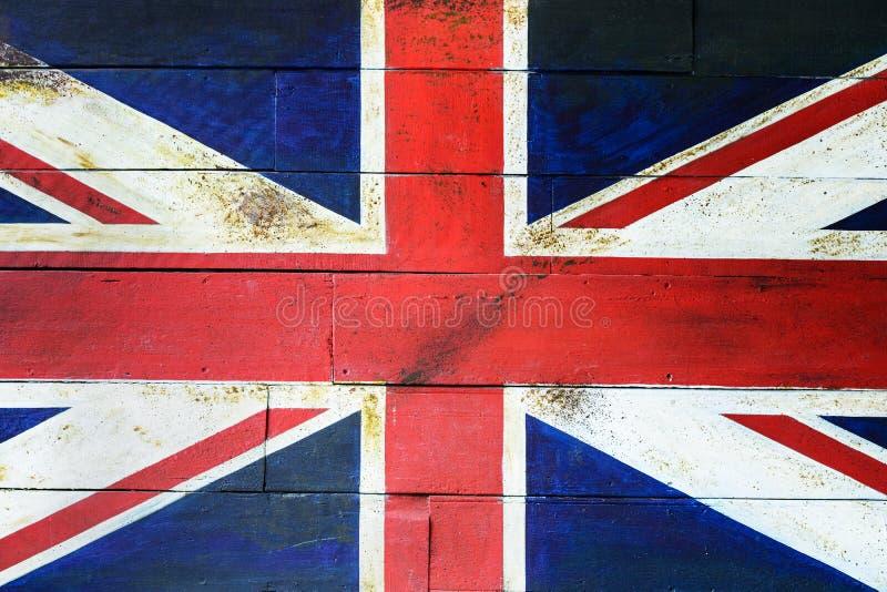 UK sjunker på träväggen arkivfoto